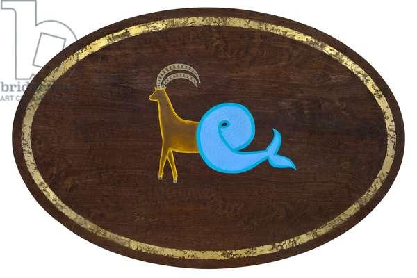Capricorn, 2008, (gilded birch plywood)