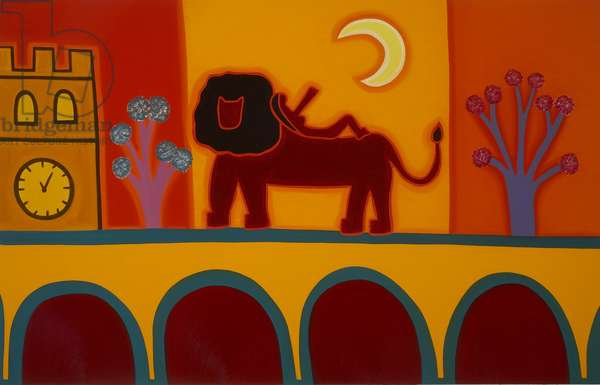 The lion from Fulham Broadway, 2008, (oil on linen)