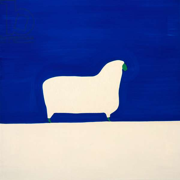 Sheep,1998,(oil on linen)
