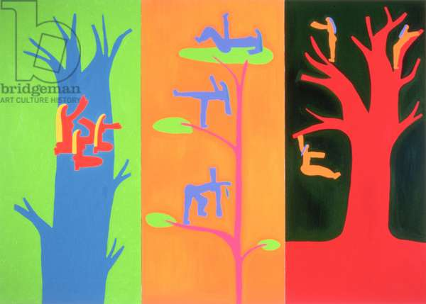The spirits of the trees, 1996, (oil on linen)