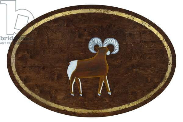 Aries, 2008, (gilded birch plywood)
