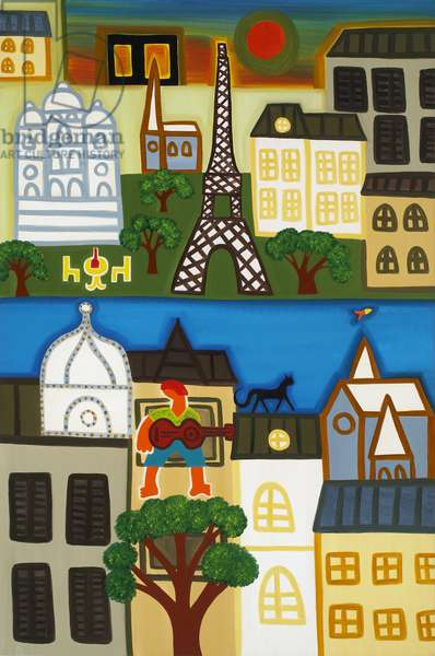 Spring in Paris, 2006, (oil on linen)