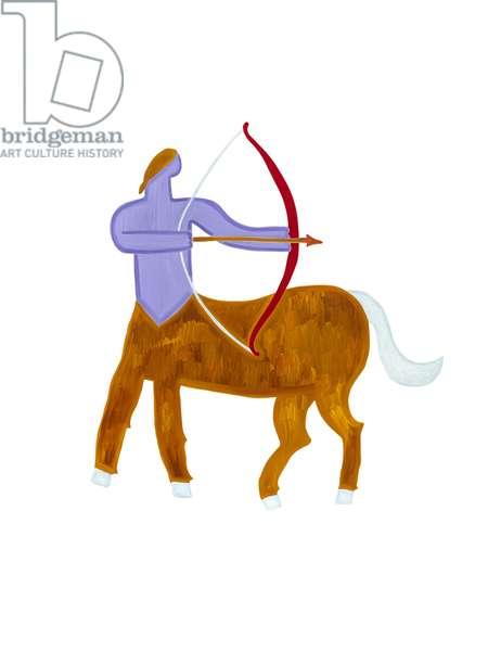 Sagittarius (Signs of the Zodiac),2009, (oil on birch plywood)