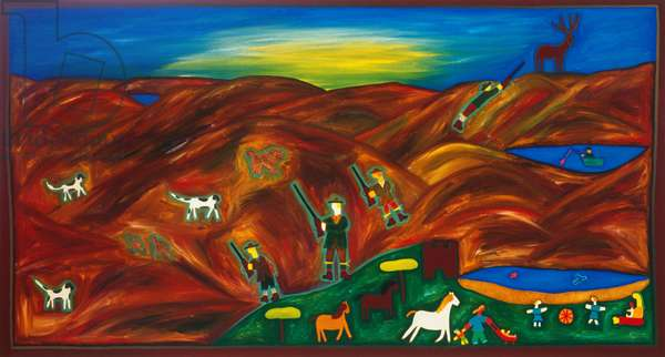 A day in the Highlands, 2002, (oil on linen)