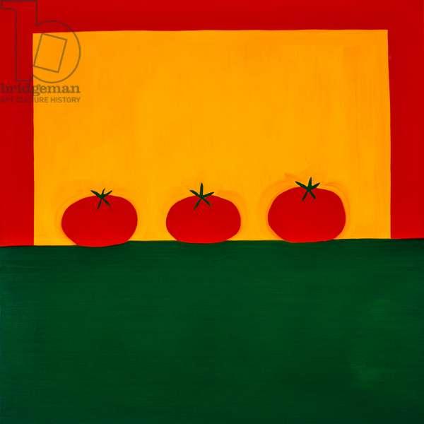 Tomatoes,1998,(oil on linen)