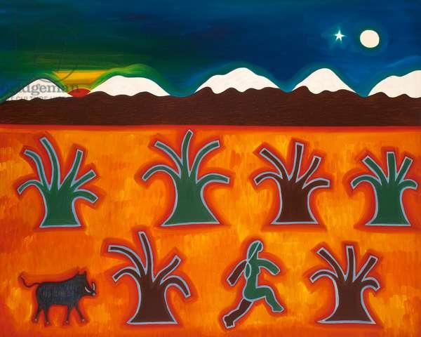 Los olivos en el invierno, 2010, (oil on canvas)