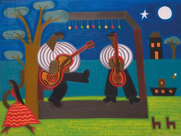 The Festival of Django Rheinhart,2007,(oil on linen)