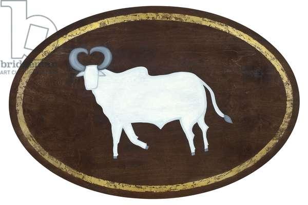 Taurus, 2008, (gilded birch plywood)