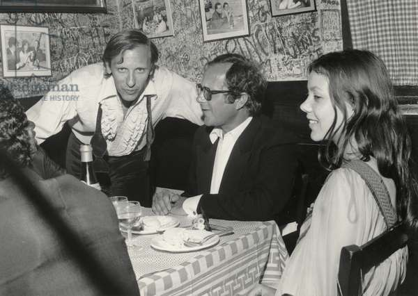 The cast of Walkabout at the Cannes Film Festival in 1971 (b/w photo)
