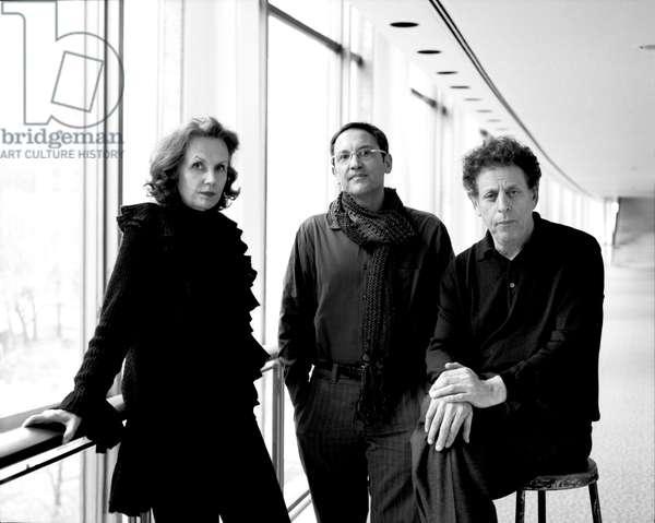 Philip Glass with Osvaldo Golijov and Kaija Saariaho, 2007