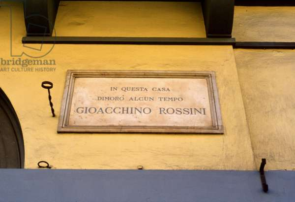 ROSSINI - plaque in