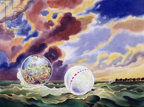 Dream Worlds, 1983 (liquitex on canvas)