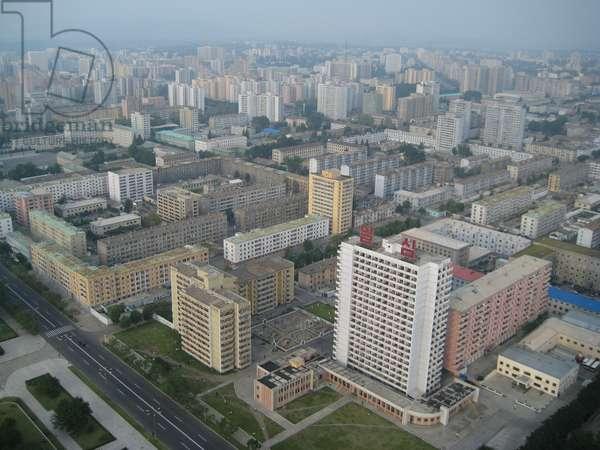 Panoramic aerial of Pyongyang, North Korea, 2008 (photo)