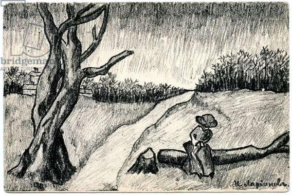 Landscape, 1912 (b/w litho)