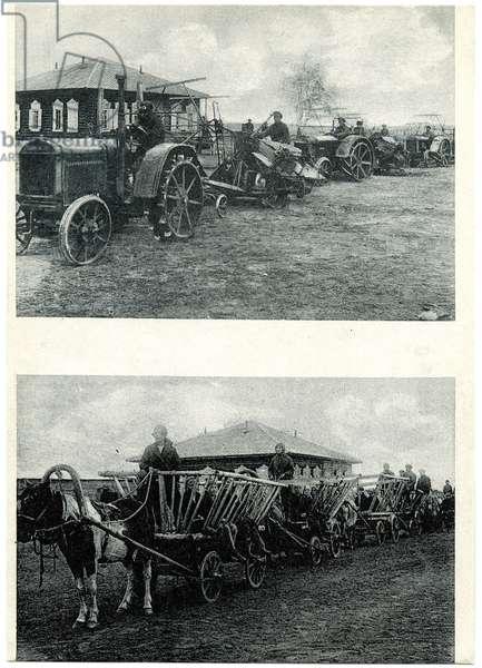 Return from Harvesting at Markhinskii State Farm in Yakustk, c.1930