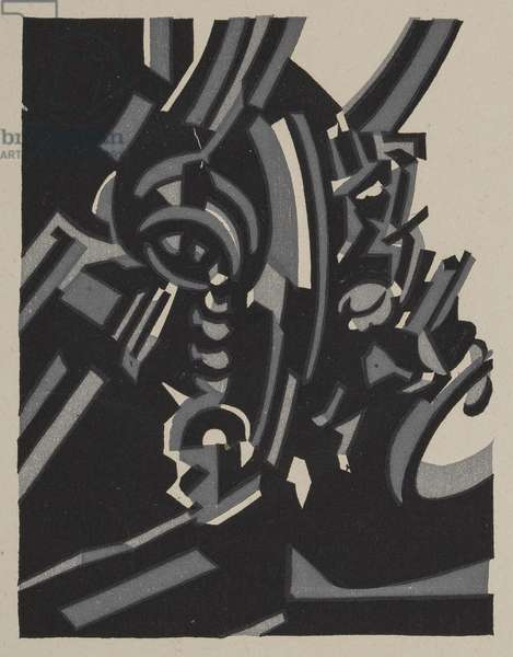 Invention, 1917 (woodcut printed on paper)