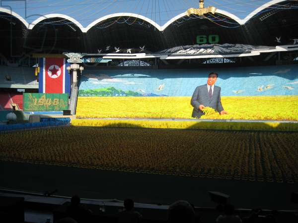 Propaganda Performance celebrating the 60th Anniversary of the founding of North Korea, at the Rungrado 1st May Stadium in Pyongyang, 2008 (photo)