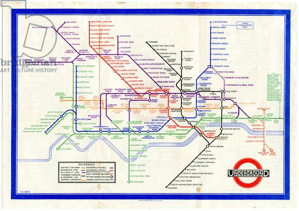 London Underground Map, 1933