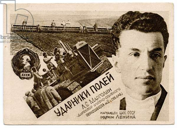 Agricultural Shockworkers: L.S.Margolin, Director of the Scientific Experimental State Grain Farm No.2 (North Caucasus), c.1930