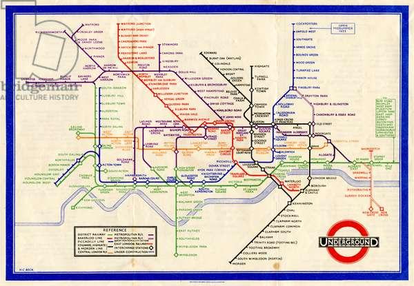 London Underground Map, 1933
