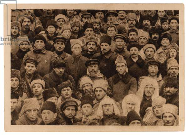 Soviet postcard depicting Vladimir Lenin surrounded by Miners at the Second Miners' Congress in January 1921, 1933 (postcard)