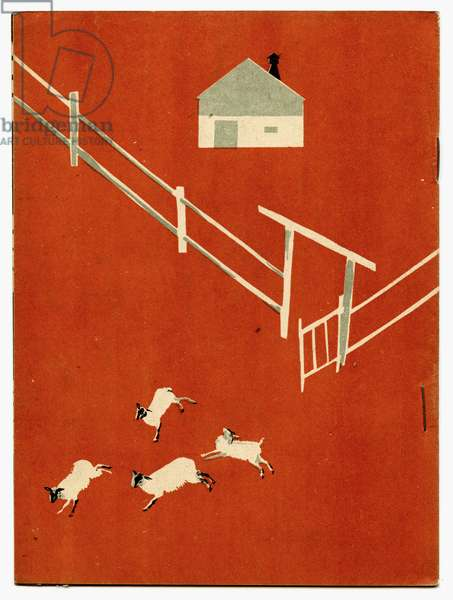 """Back Cover of Soviet Children's Book written by Evgenii Svarts Titled """"The Cattle Yard"""", 1931"""