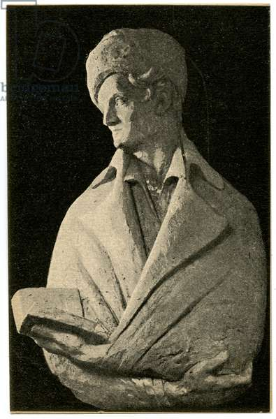 Soviet Postcard depicting Statue of the French Philosopher Jean-Jacques Rousseau, erected in 1918 as part of Lenin's Plan for Monumental Propaganda