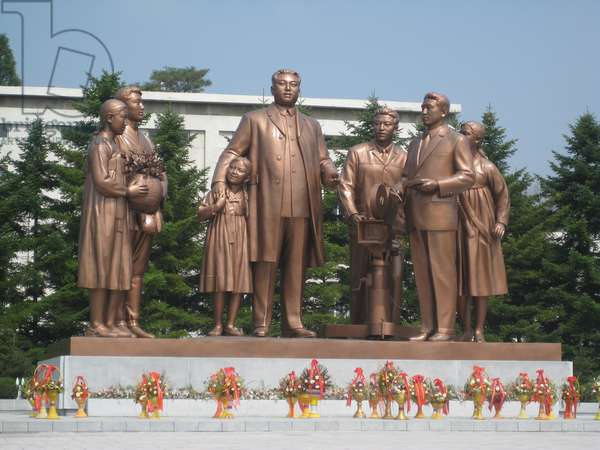 Monument to Kim Il Sung at the Cinema Studios in Pyongyang, 2008 (photo)
