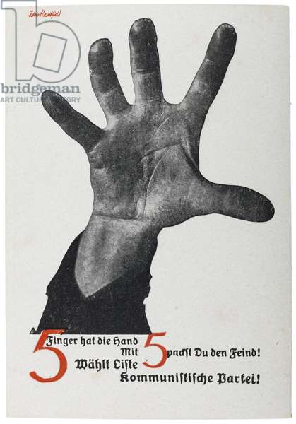 Russian postcard reproducing 1928 poster for the German Communist Party ahead of elections to the Reichstag, early 1930s