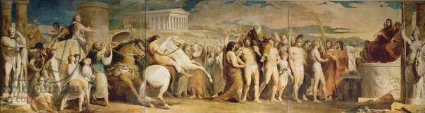 Crowning the Victors at Olympia, third in the series 'The Progress of Human Culture and Knowledge', c.1777-84 (oil on canvas) (see 101473 and 101474)