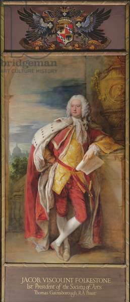 Portrait of Jacob Bouverie, First Viscount Folkestone and First President of the Society of Arts, 1776 (oil on canvas)