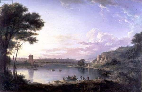 The Union Bridge near Berwick on Tweed, c.1819 (oil on canvas)