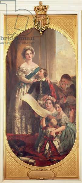 Queen Victoria (1819-1901) with Albert Edward, the Prince of Wales, Victoria, the Princess Royal and other members of the Royal Family, 1864 (oil on canvas)