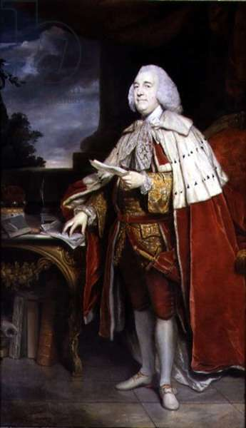 Portrait of Robert Marsham, second Baron Romney and second President of the Society, 1770 (oil on canvas)