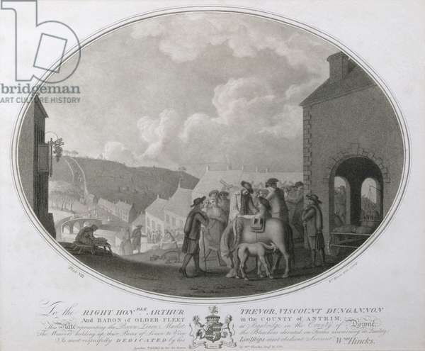 The Brown Linen Market at Banbridge in the County of Antrim, plate VIII of 'The Linen Manufactory of Ireland', 1783 (mezzotint)