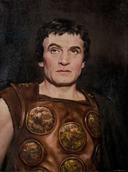 Sir Laurence Olivier as Coriolanus, Stratford, 1959 (oil on canvas)