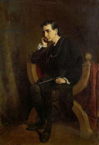Edwin Booth as Hamlet, 1887 (oil on canvas)