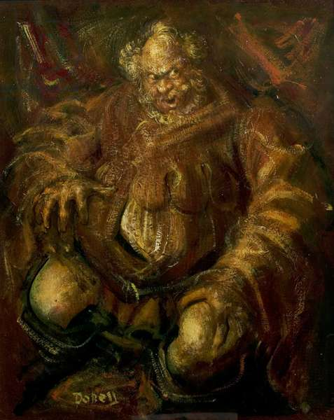 Anthony Quayle as Falstaff, Stratford, 1951 (oil on canvas)