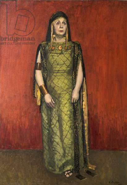 Dame Edith Evans as Volumnia, Stratford (oil on canvas)