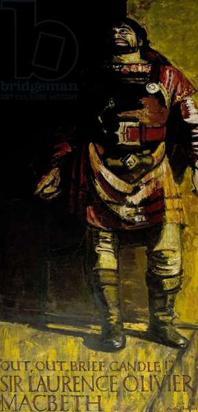 Sir Laurence Olivier as Macbeth, Stratford, 1955 (oil on canvas)