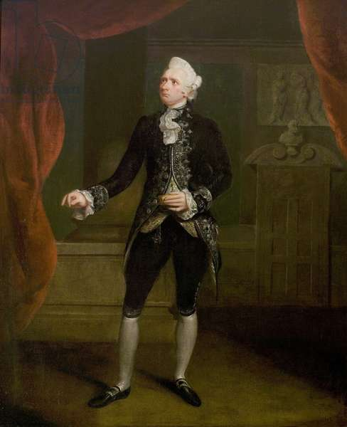 Mr William Farren as Sir Peter Teazle (from 'The School for Scandal' by Richard Brinsley Sheridan) or Sir Bashful Constant (from 'The Way to Keep Him' by Arthur Murphy) (oil on canvas)