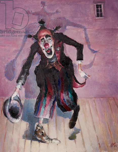 The Fool, Self Portrait, Stratford, 1982 (oil on canvas