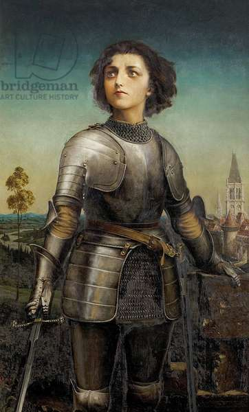 Alice Maud Mary Arcliffe as Joan of Arc, Shakespeare Memorial Commemoration, 1889, 1914 (oil on canvas)
