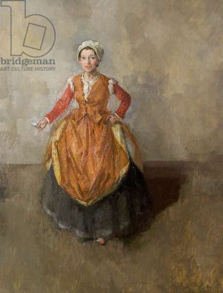 Angela Baddeley as Mrs Page, Stratford, 1955 (oil on canvas)
