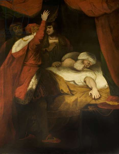 'Henry VI', Part II, Act III, Scene 3, the Death of Cardinal Beaufort, c.1790 (oil on canvas)