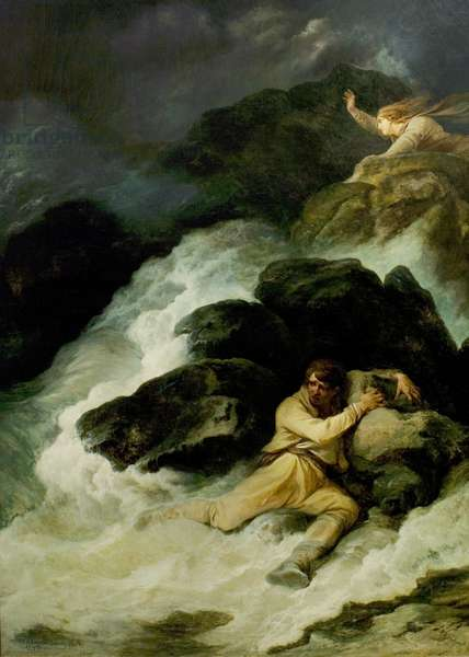 'The Tempest', Act I, Scene 1, the Shipwreck, 1793 (oil on canvas)