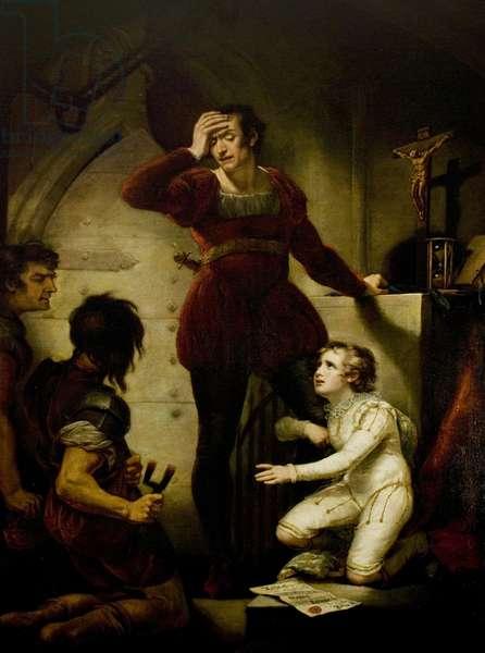 'King John', Act IV, Scene 1, Hubert and Arthur, 1789 (oil on canvas)