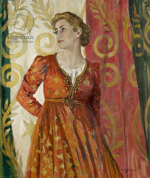 Peggy Ashcroft as Juliet, London, 1935 (oil on canvas)