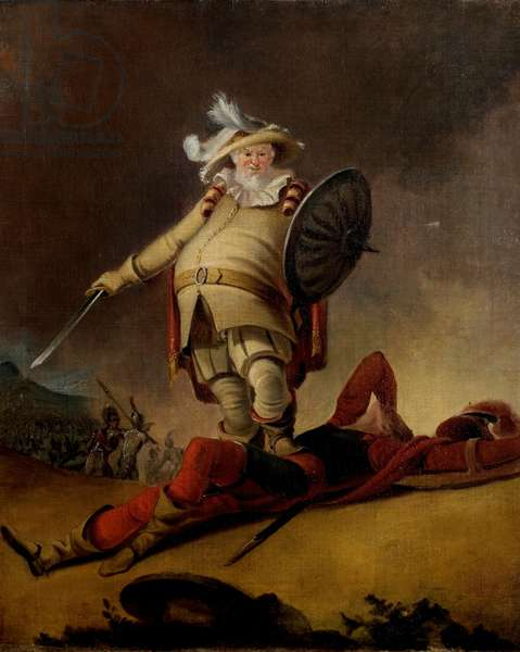 'Henry IV', Part I, Act V, Scene 4, Falstaff and the Dead Body of Hotspur (oil on canvas)
