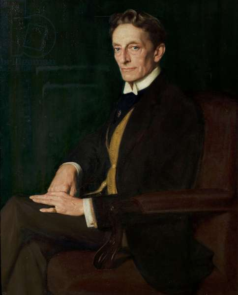 Sir Johnstone Forbes-Robertson, 1920 (oil on canvas)